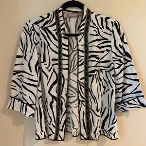 Chico's Animal print thin blazer